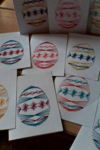 Hímzett tojások